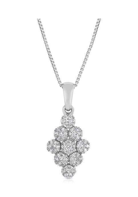 1/4 ct. t.w. Round-Cut Diamond Fashion Pendant in 10K White Gold