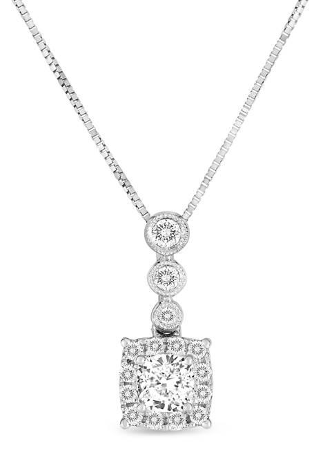 Diamour 1/2 ct. t.w. Princess and Round-Ccut Diamond