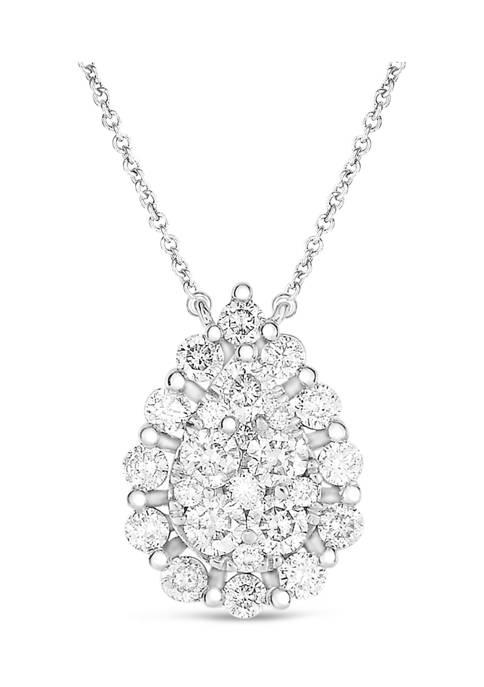 Diamour 3/4 ct. t.w. Composite Pear-Shaped Diamond Frame