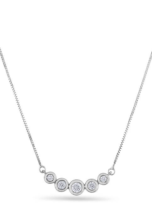 Diamour 1/4 ct. t.w. Diamond Graduated Five Stone