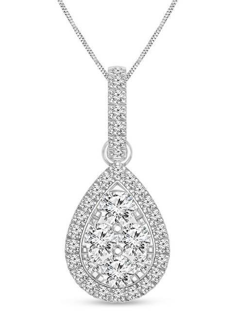 Diamour 1/3 ct. t.w. Round Diamond Pear Shaped