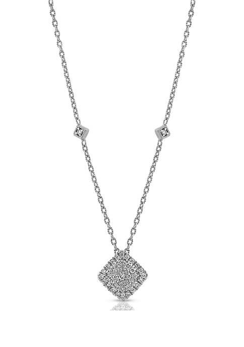 Diamour 1/4 ct. t.w. Round-cut Diamond Cluster Frame
