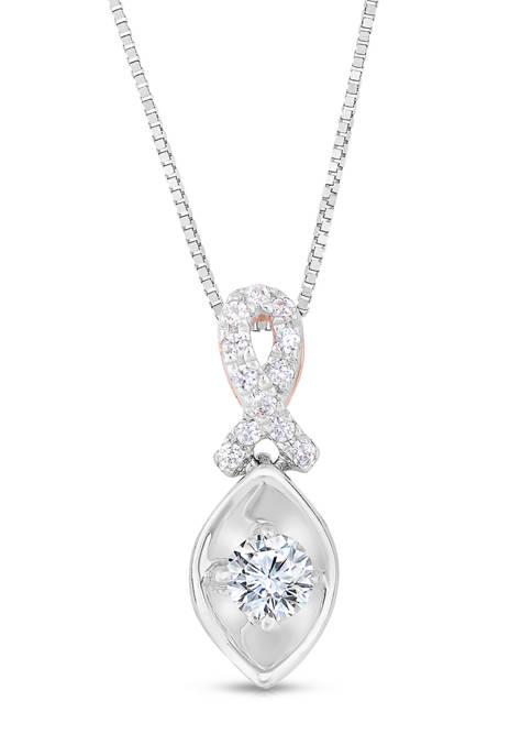 Diamour 1/4 ct. t.w. Round-cut Diamond Infinity Drop
