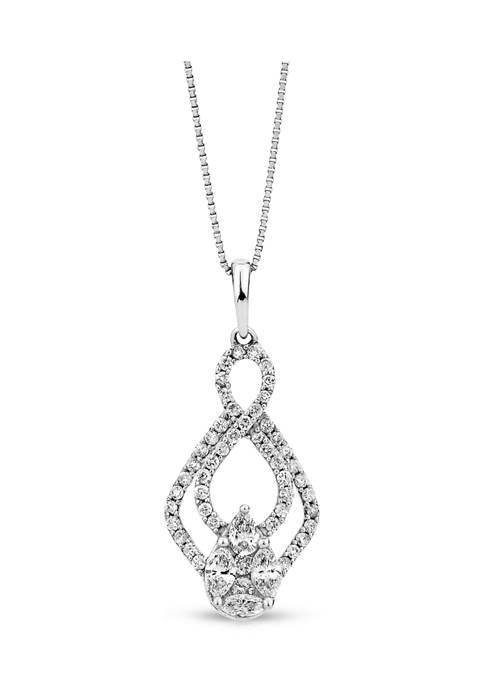 Diamour 1/2 ct. t.w. Diamond Fashion Pendant in