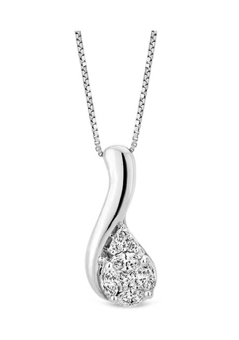 Diamour 1/5 ct. t.w. Diamond Composite Fashion Pendant