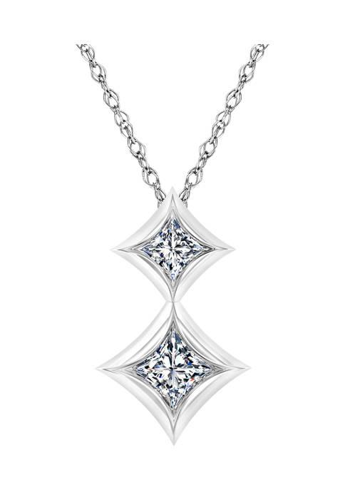 Diamour 1/6 ct. t.w. Double Princess-cut Diamond Fashion
