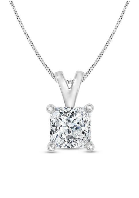 Diamour 1/3 ct. t.w. Certified Princess Cut Diamond