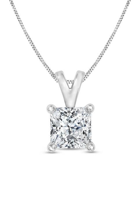 Diamour 1/4 ct. t.w. Certified Princess Cut Diamond