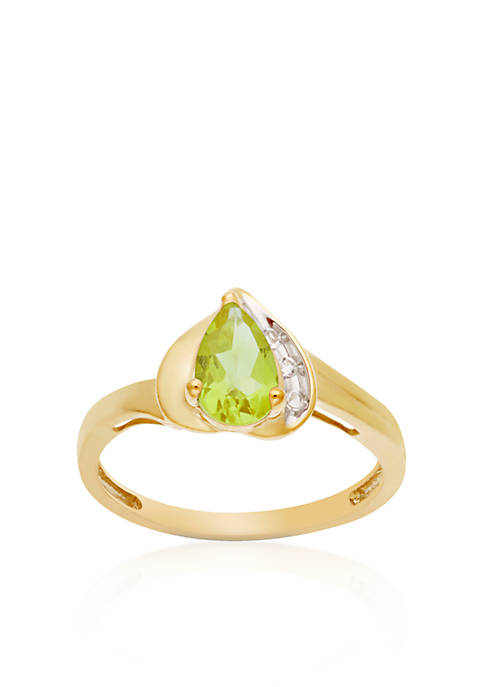 Belk & Co. 10k Yellow Gold Peridot and