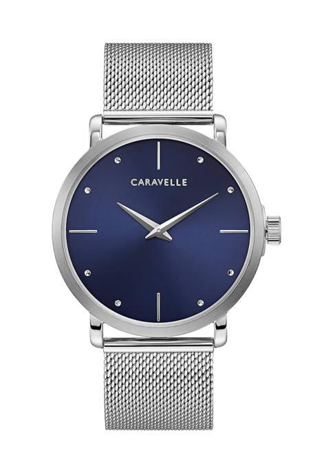 Caravelle by Bulova Mens Min/Max Stainless Steel Bracelet