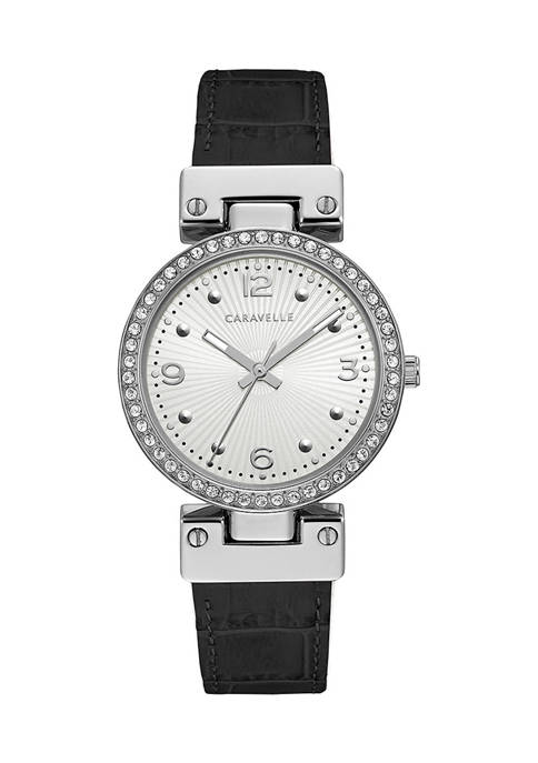 Caravelle by Bulova Dress Leather Strap Watch