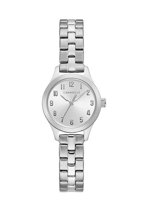 Caravelle by Bulova Traditional Stainless Steel Bracelet Watch