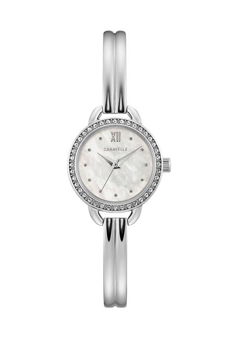 Caravelle by Bulova Dress Stainless Steel Bangle Watch