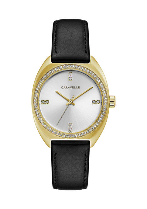 Caravelle by Bulova Retro Leather Strap Watch
