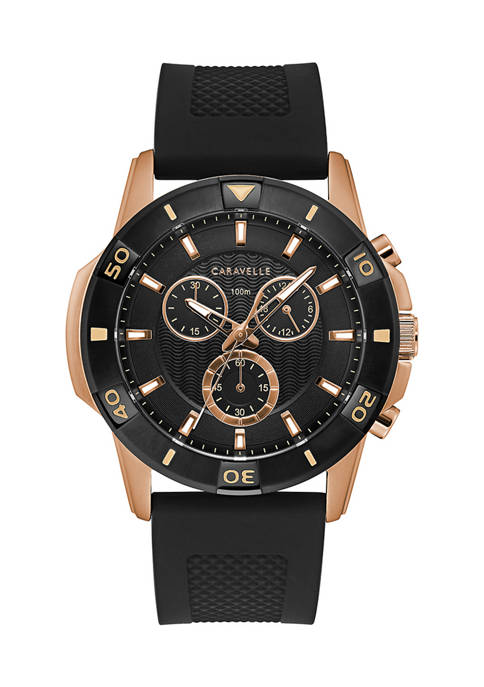 Caravelle by Bulova Mens Sport Silicone Strap Watch