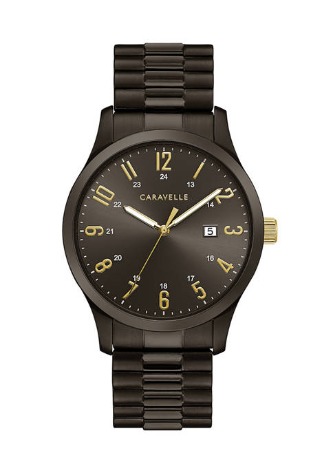 Caravelle by Bulova Mens Traditional Stainless Steel Expansion