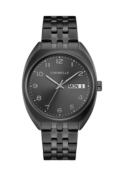 Caravelle by Bulova Retro Stainless Steel Bracelet Watch