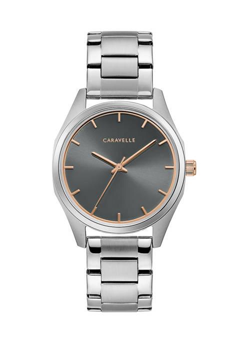 Womens Min/Max Stainless Steel Bracelet Watch