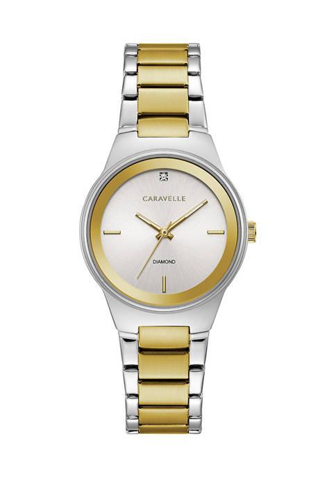Caravelle by Bulova Modern Stainless Steel Bracelet Watch