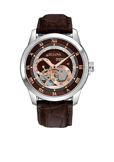 Mens Mechanical Leather Strap