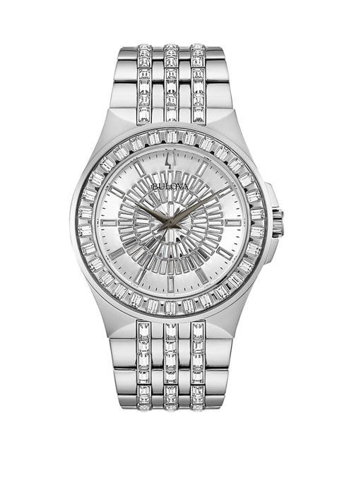 Bulova Mens Phantom Stainless Steel Bracelet Watch