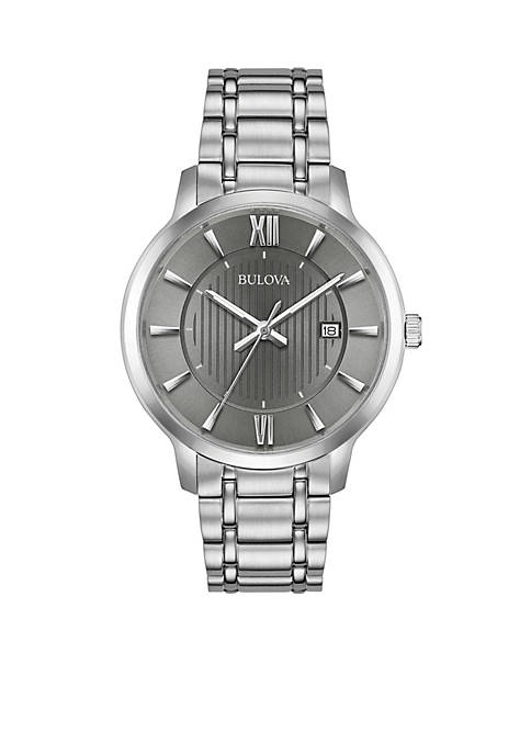 Bulova Mens Classic Stainless Steel Watch