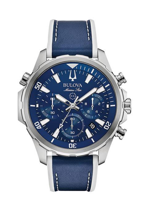 Bulova Mens Marine Star Chronograph Strap Watch