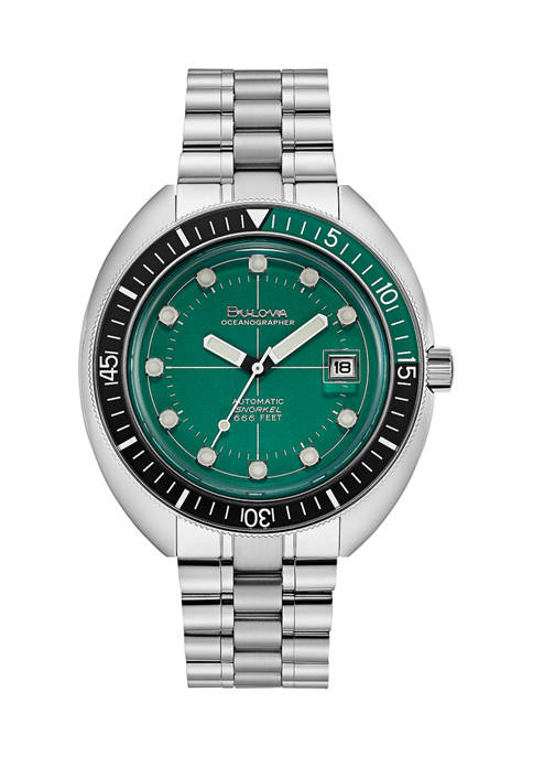 Bulova Oceanographer Stainless Steel Bracelet Watch