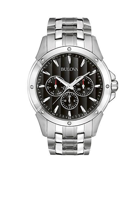 Bulova Mens Stainless Steel Watch