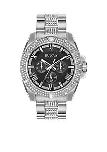 Men's Stainless Steel Embellished Watch
