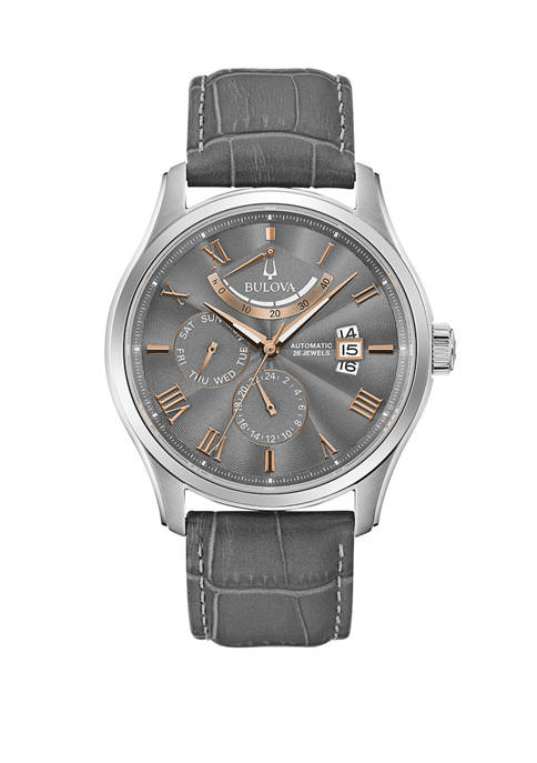 Belk & Co. Mens Automatic Leather Watch