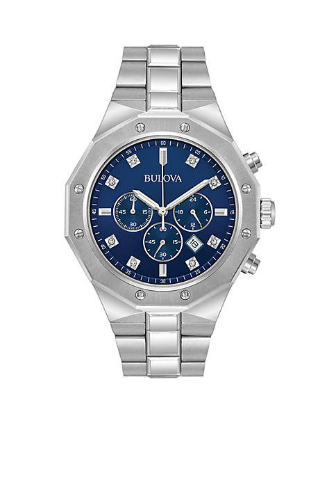 Bulova Mens Diamonds Chronograph Watch