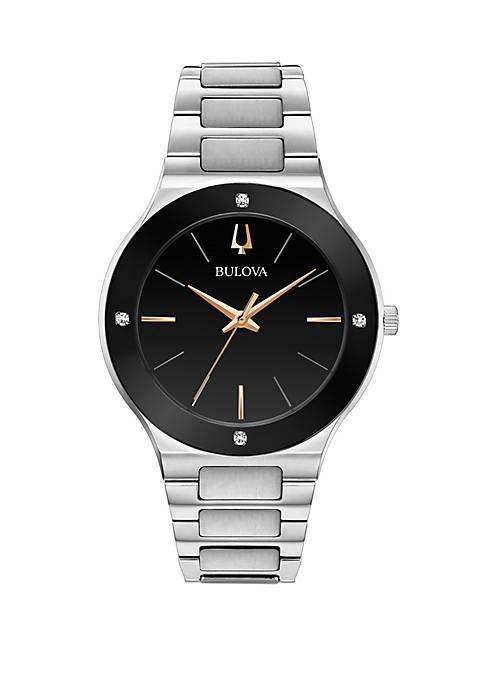 Bulova Silver Tone Stainless Steel Millenia Bracelet Watch