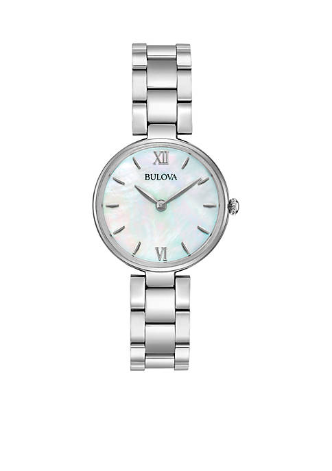Bulova Womens Classic Stainless Steel Watch