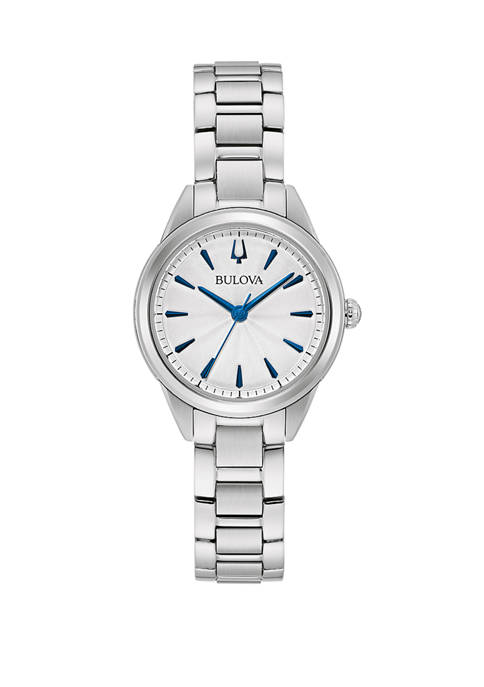 Bulova Womens Sutton Mini Stainless Steel Watch