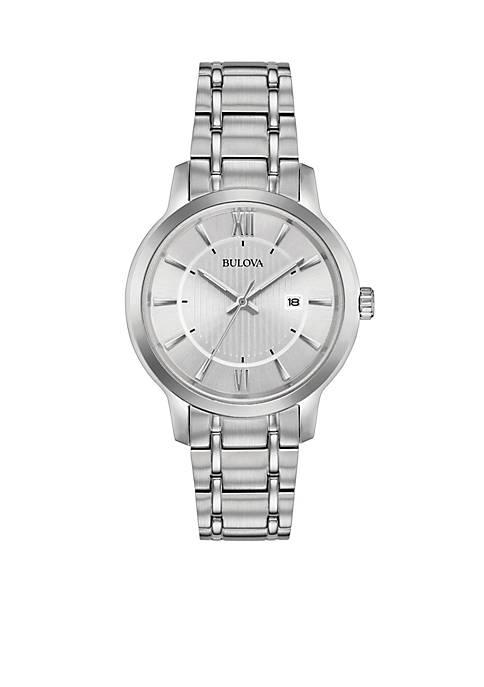 Bulova Womens Stainless Steel Bracelet Watch