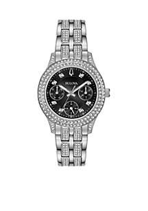Ladies Stainless Steel Embellished Watch
