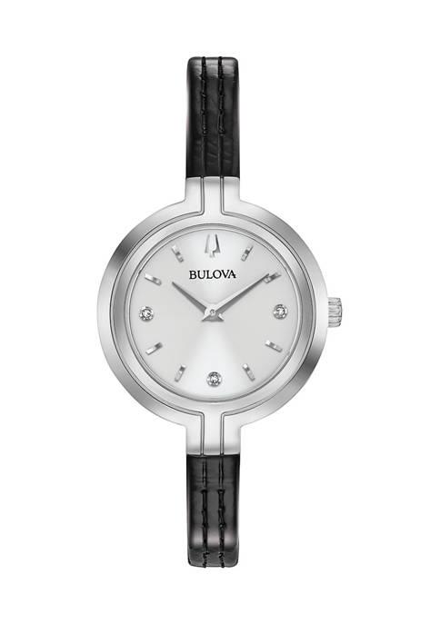 Bulova Rhapsody Leather Strap Watch
