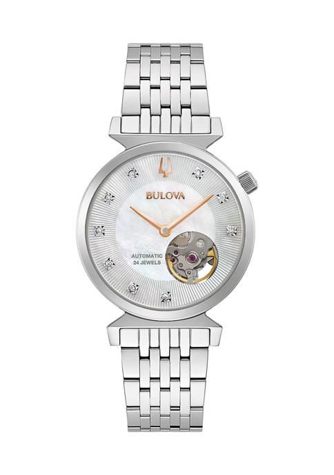 Bulova Womens Automatic Regatta Diamond Dial Watch