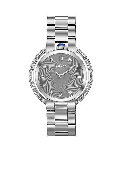 Bulova Womens Silver-Tone Rubaiyat Watch