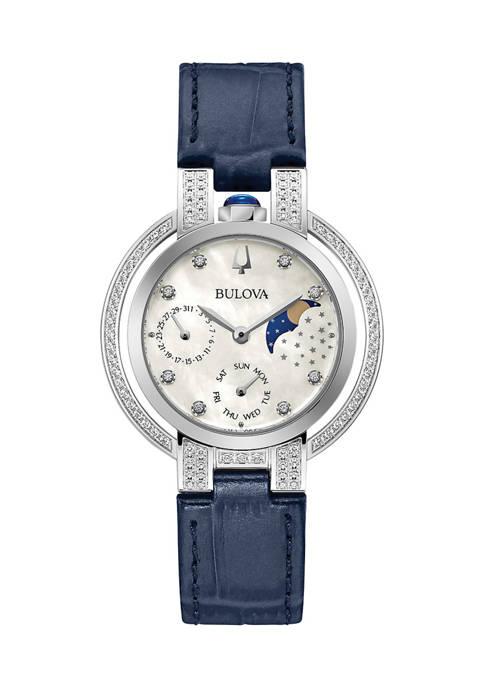 Bulova Rubaiyat Leather Strap Watch