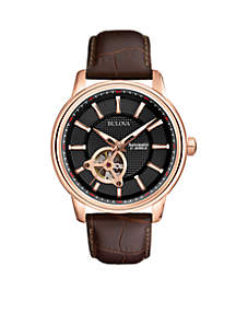 Men's Automatic-Black Dial with Rose Gold-Tone Case Watch