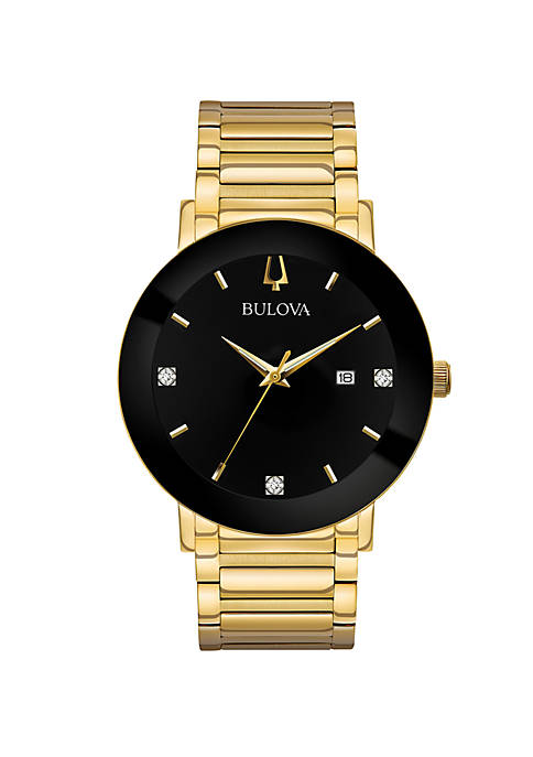 Bulova Mens Gold-Tone Modern Watch
