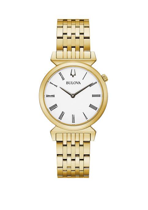 Bulova Womens Bracelet Gold Tone Watch