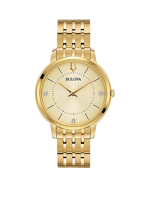 Bulova Womens Classic Diamond Watch