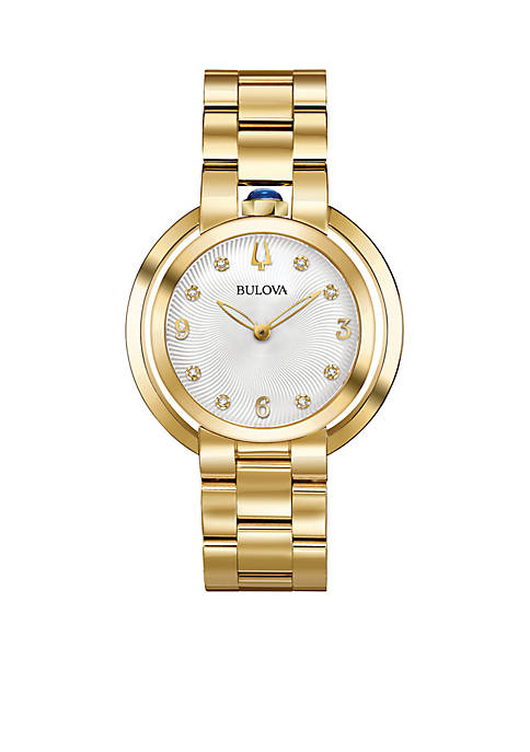 Bulova Womens Gold-Tone Rubaiyat Watch