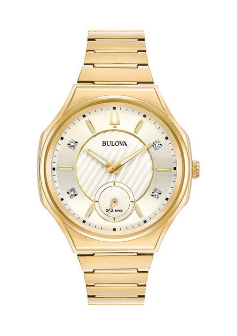 Bulova Womens Curv Diamond Dial Watch