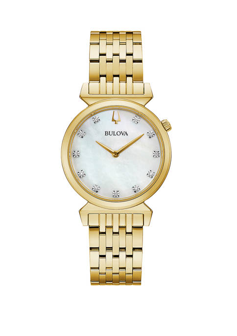 Regatta Gold Tone Diamond Watch