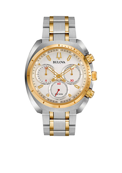 Bulova Mens CURV Two-Tone Watch