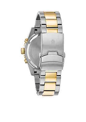 0aa769334 ... Bulova Men's Two-Tone Chronograph Marine Star Bracelet Watch